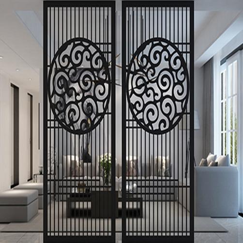 Black Titanium plated stainless steel tube screen