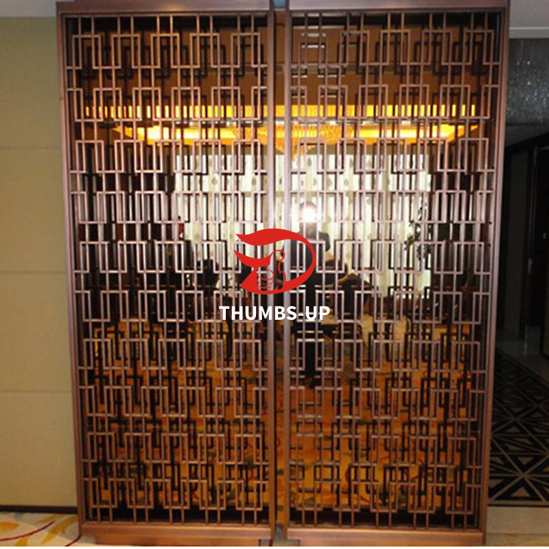 gold decorative metal screen panels supplier for villa Thumbs-Up-9