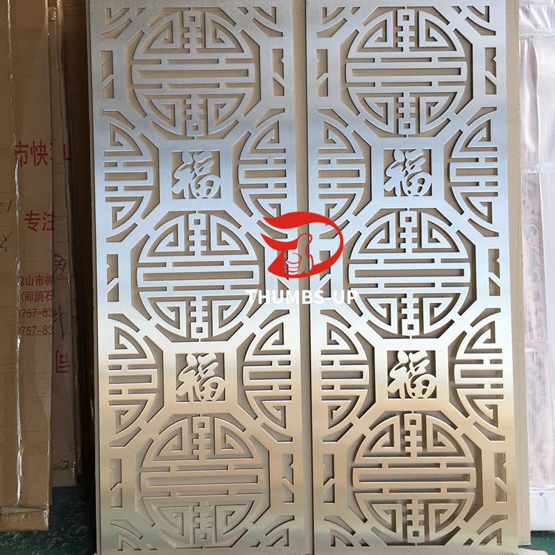 Stainless steel laser cutting hollow-out screen