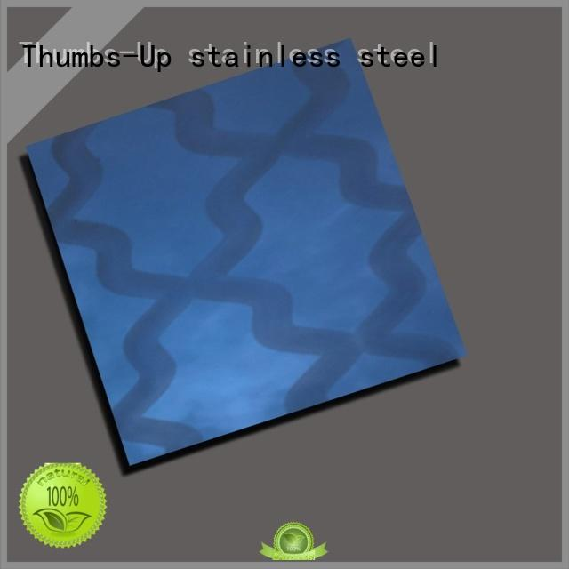 Thumbs-Up colorful embossed stainless steel panels design for store