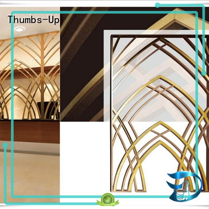copper titanium plated laser Thumbs-Up Brand steel privacy screen factory