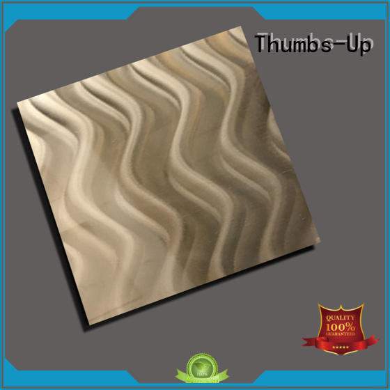 Thumbs-Up decorative stainless steel bronze color customized for club