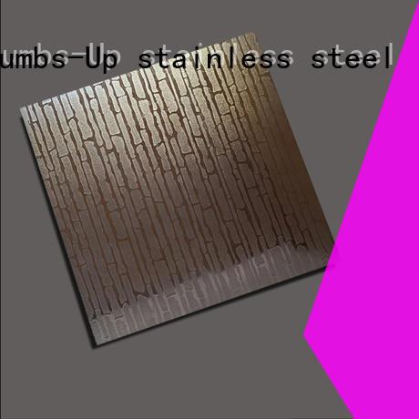 Thumbs-Up flower diamond pattern stainless steel backsplash customized for building