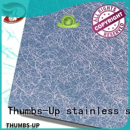 Thumbs-Up sandblastinggray 304 stainless steel plate supplier for hotel