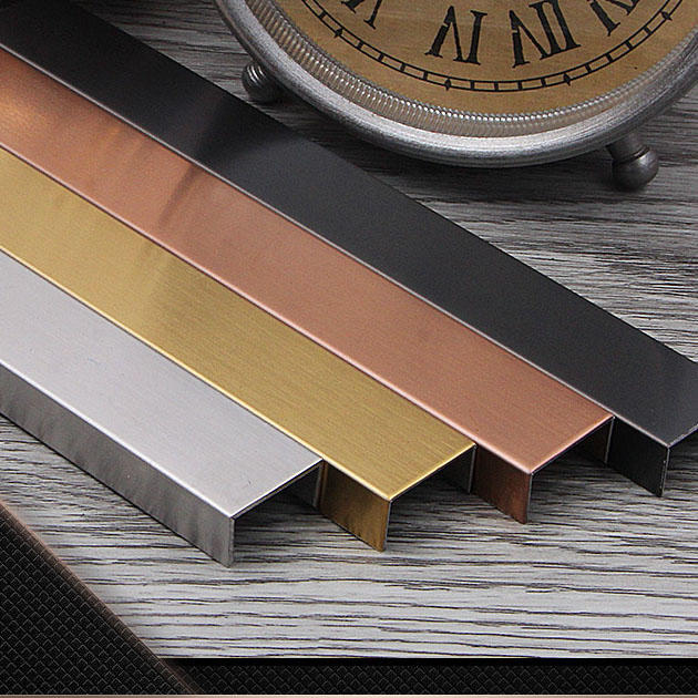 Stainless steel U decorative strip