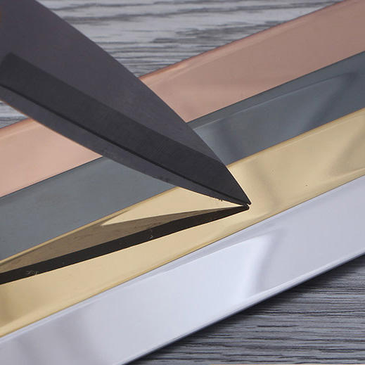 Stainless steel T decorative strip