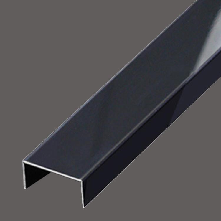 Black titanium Stainless steel U decorative strip