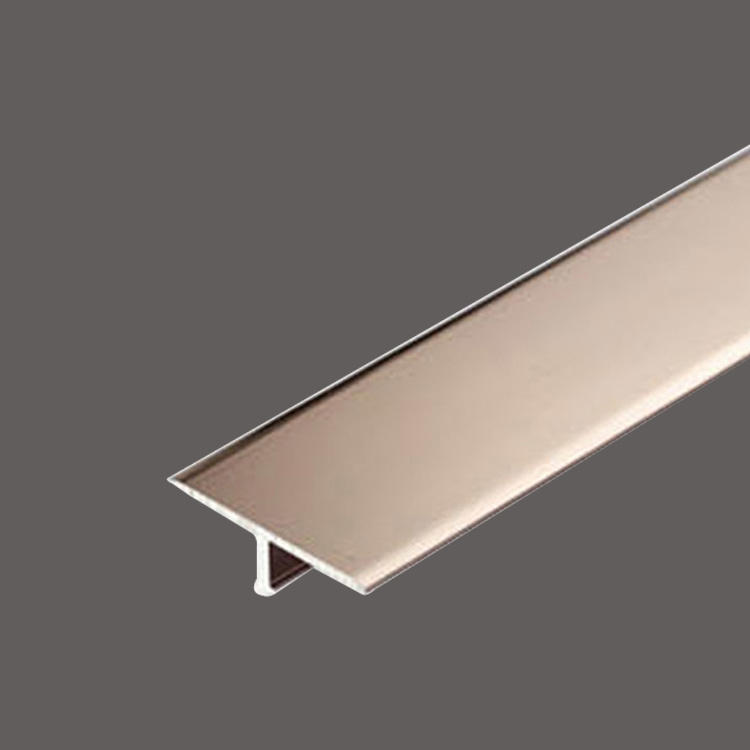 Rose Golden stainless steel T decorative strip