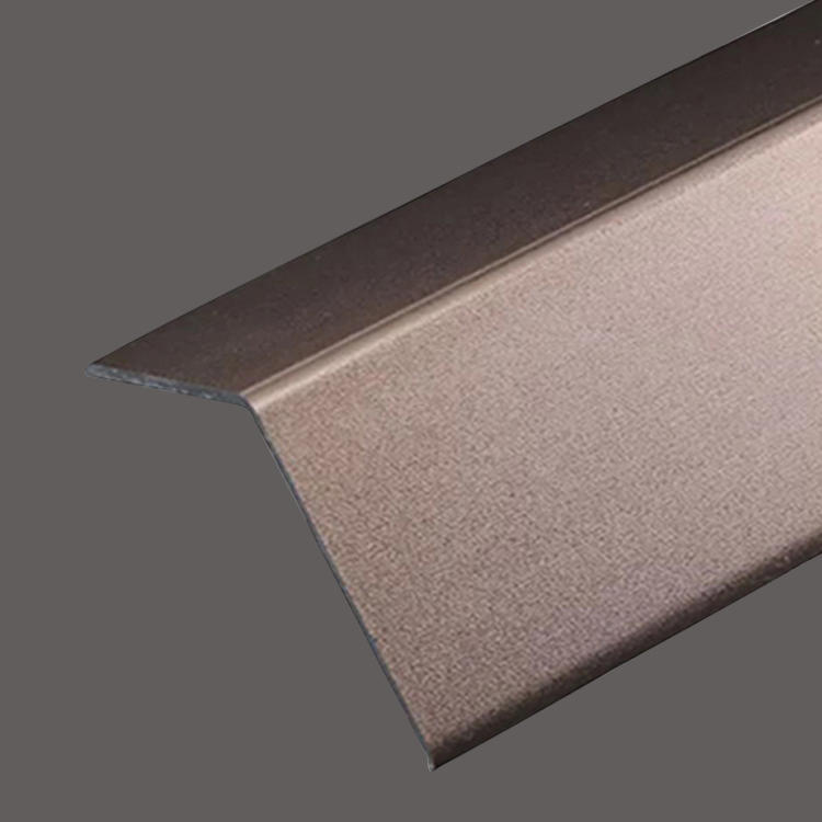 Rose Golden stainless steel decorative L strip
