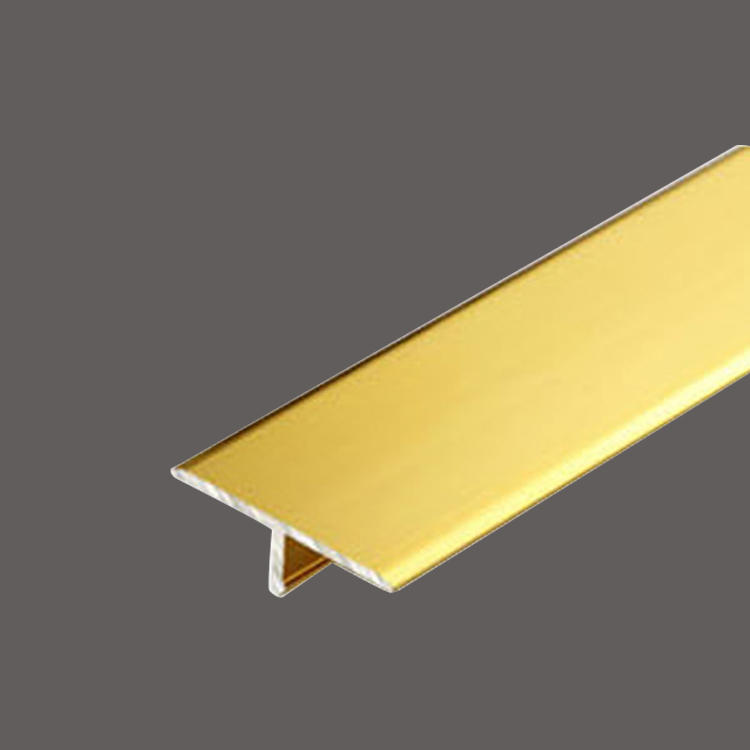 Titanium gold  stainless steel T decorative strip