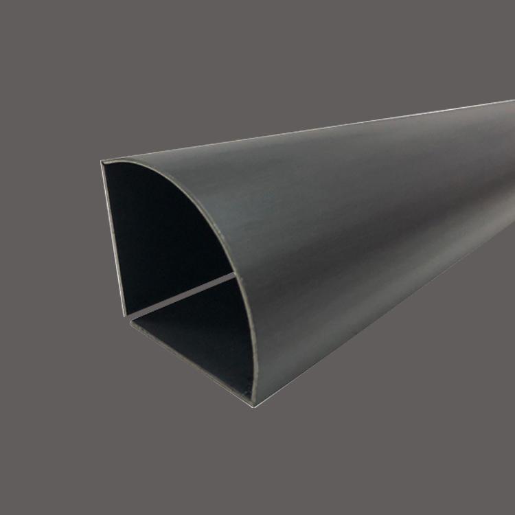 Customized black titanium arc stainless steel edge wrapping