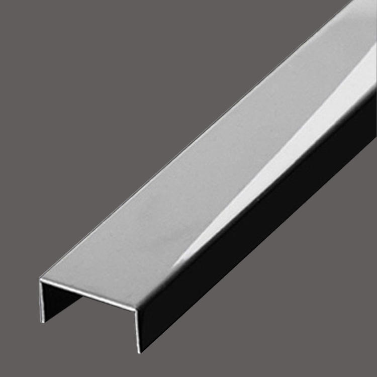 8K stainless steel U decorative strip