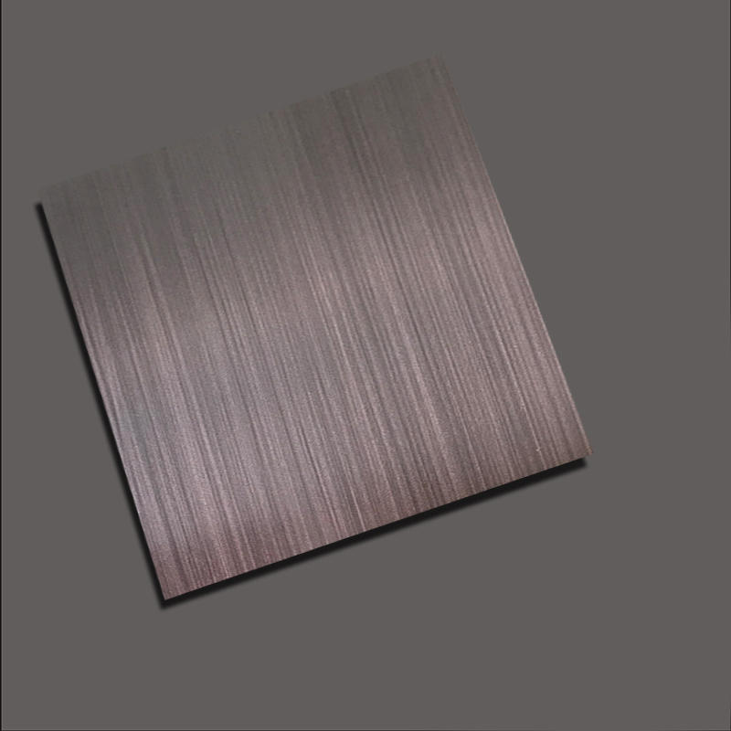 RoughGrain+Dark Brown stainless steel nanometre coating plate