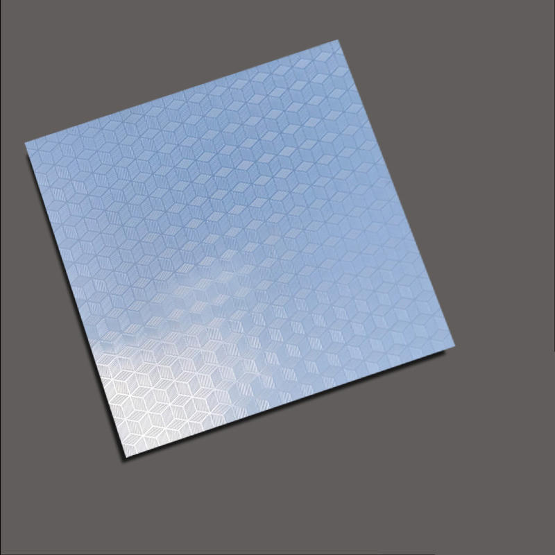 The cube embossed plate