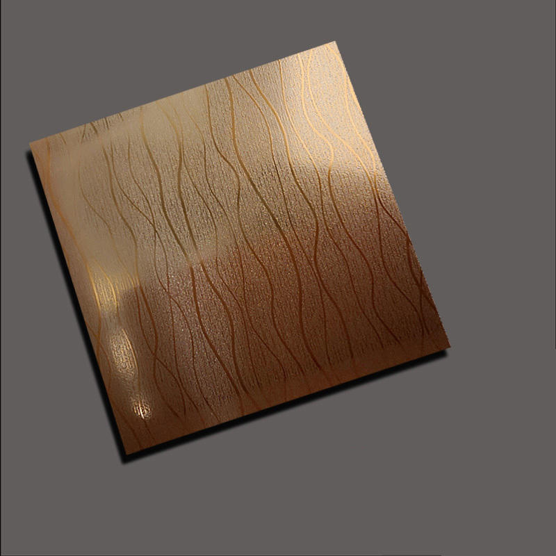 Willow stripe rose gold embossed plate