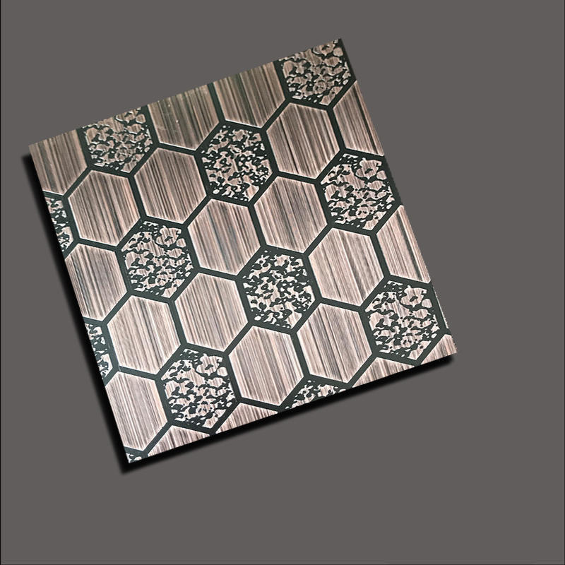 Etch diamond snow red copper stainless steel sheet