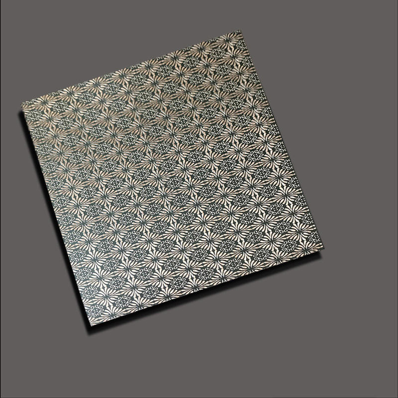 Etched stainless steel sheets etch chrysanthemum red bronze
