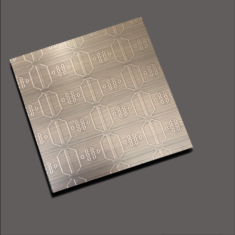 Etched stainless steel sheets etch the money back red bronze