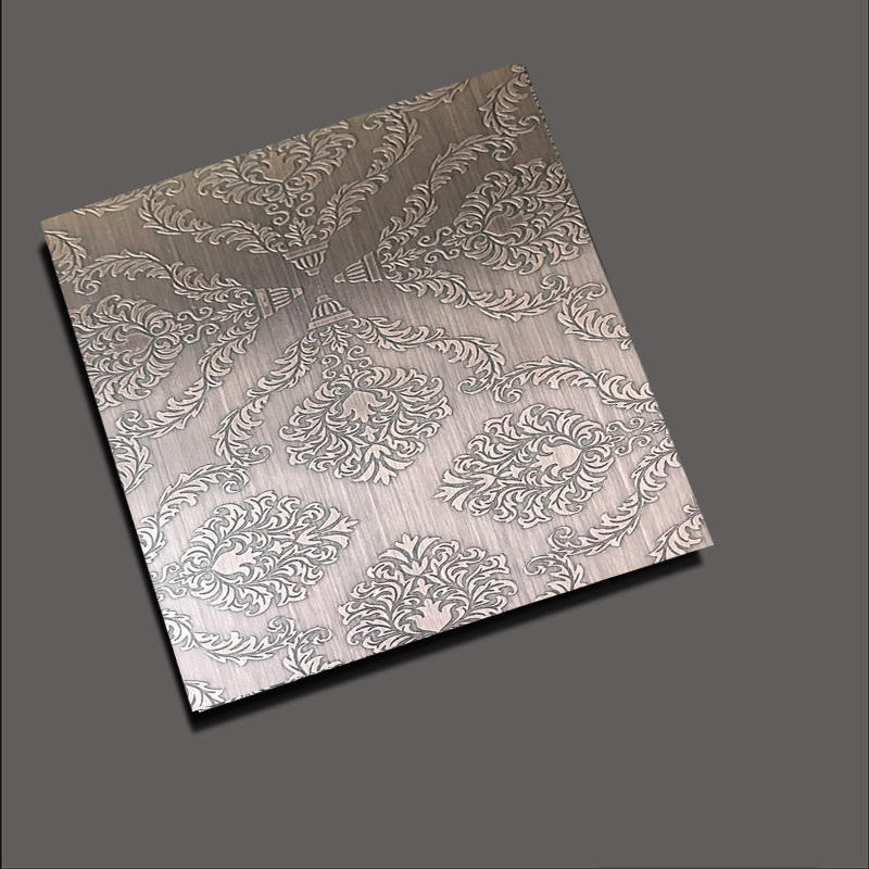 Etched stainless steel sheets etch crown red bronze