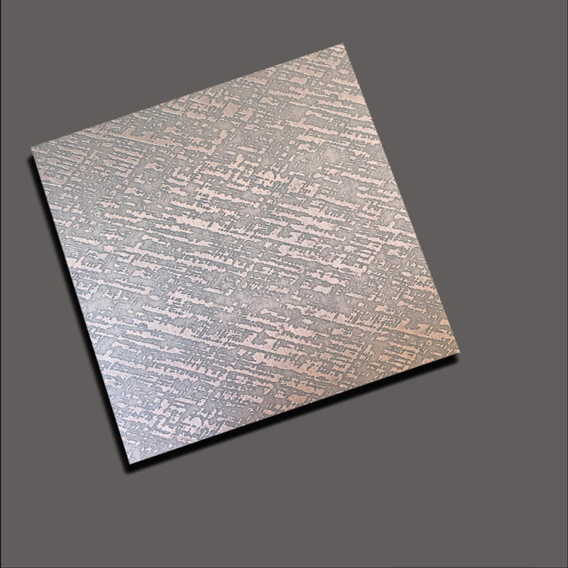 Stainless steel etch plate etched cloth with red bronze