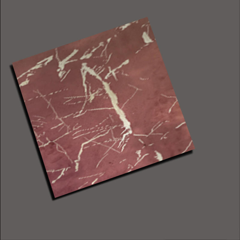 Rose red marble decorative stainless steel sheet