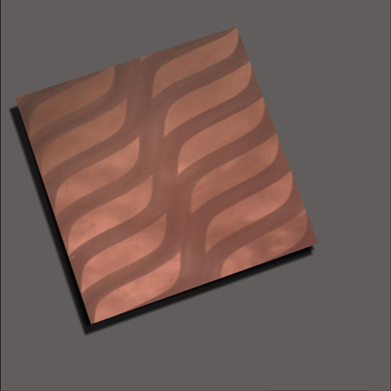 Colored Stainless Steel Sheets Coffee gold mirror radium