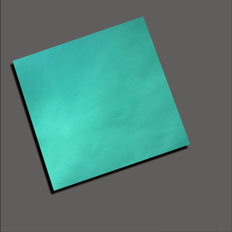 Decorative color plate with emerald green