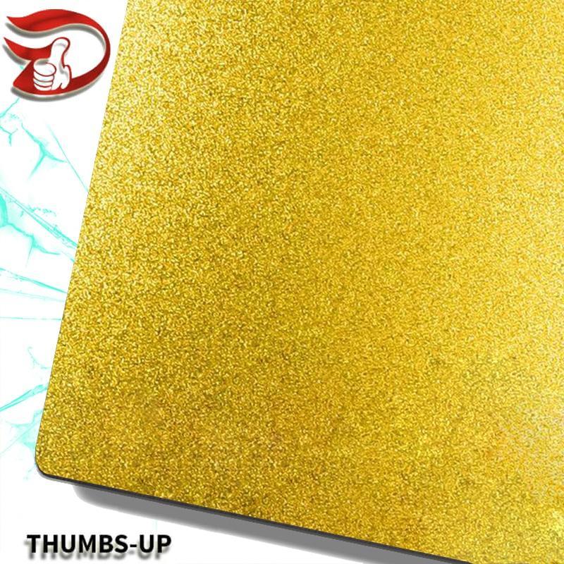 Sandblasting+gold stainless steel nanometre coating plate