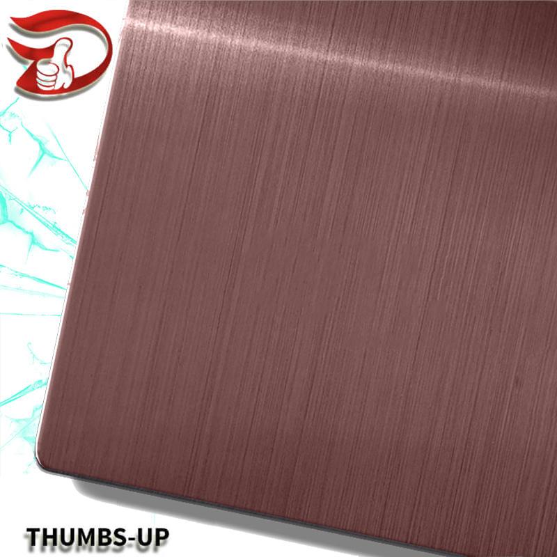 Hairline+Dark Coffee stainless steel nanometre coating plate