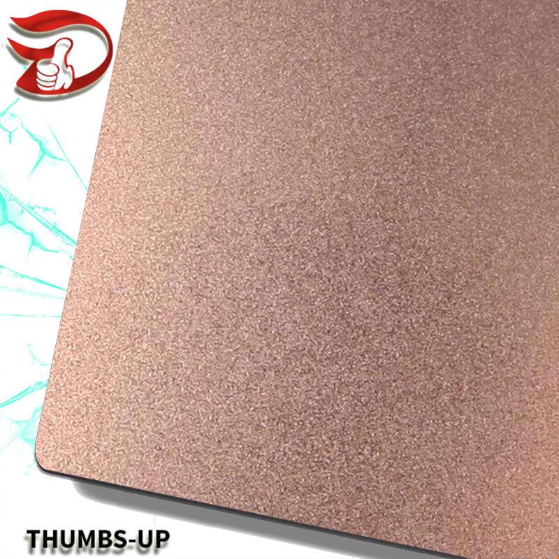 Sandblasting+Rose stainless steel nanometre coating plate
