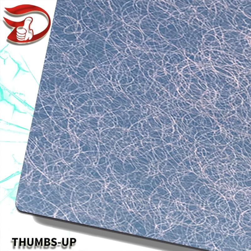 Scrible finish+light blue stainless steel nanometre coating plate