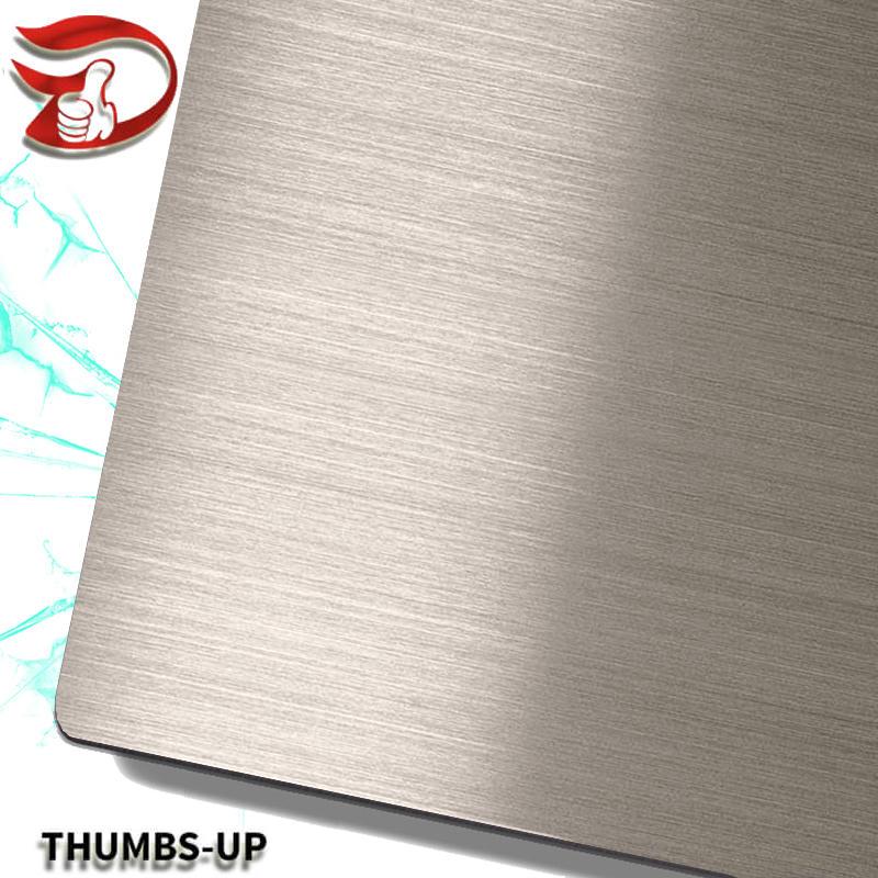 Hairline+Dark Brown stainless steel nanometre coating plate