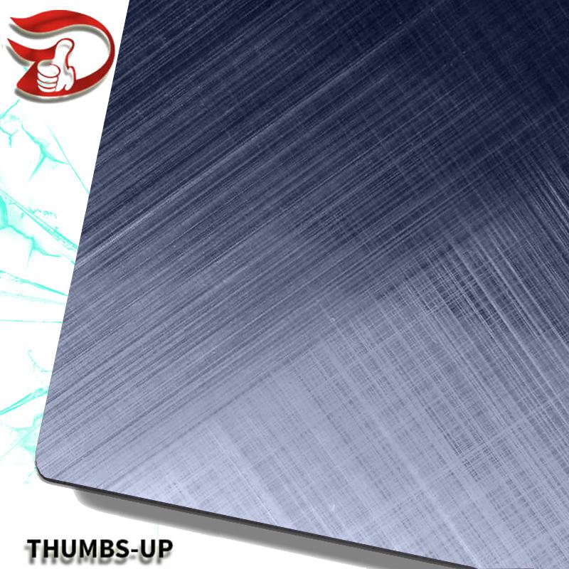 Cross grain+blue stainless steel nanometre coating plate