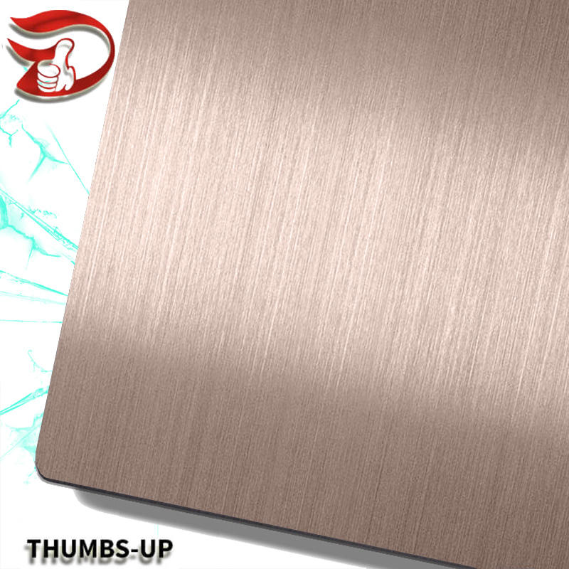 Hairline+Dark Brown stainless steel nanometre coating plate