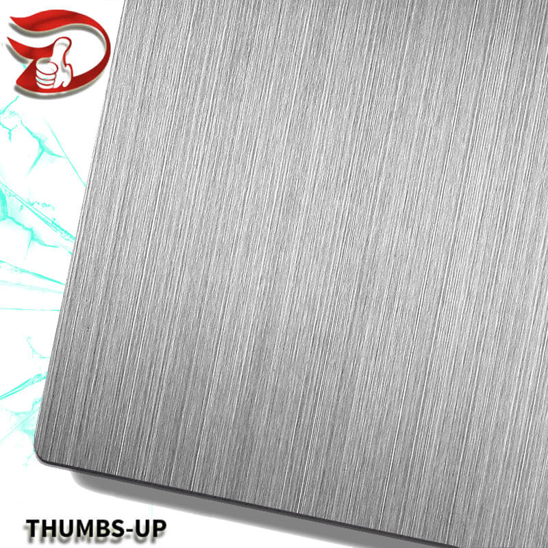 Hairline+Gray stainless steel nanometre coating plate
