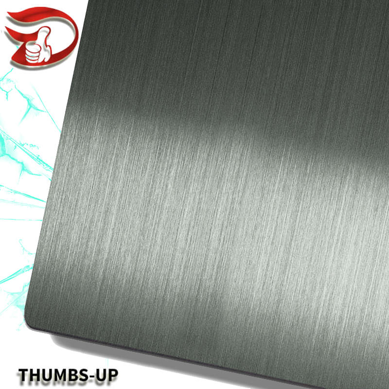 Hairline+Black stainless steel nanometre coating plate