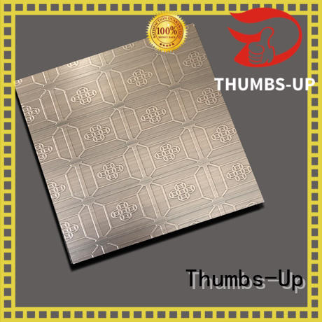 flower pattern stainless steel sheet finishes red crown Thumbs-Up Brand