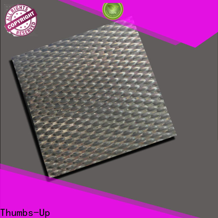 Thumbs-Up stripe stainless sheet gauge wholesale for elevator