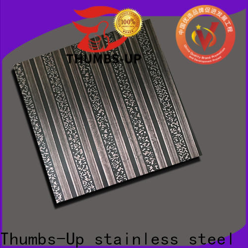 Thumbs-Up 316 color etching stainless steel supplier for lobby