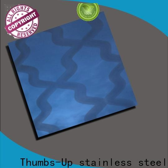 Thumbs-Up decorative patterned stainless steel sheet supplier for club