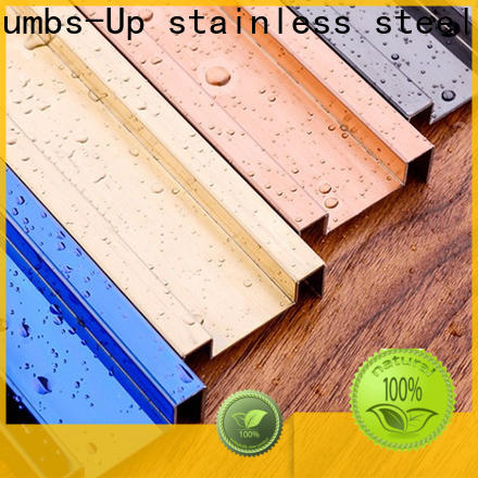 Thumbs-Up black stainless steel tile edging strip manufacturer for store