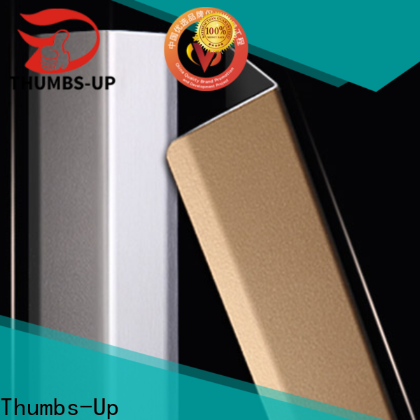 Thumbs-Up 8k stainless steel corner molding supplier for store
