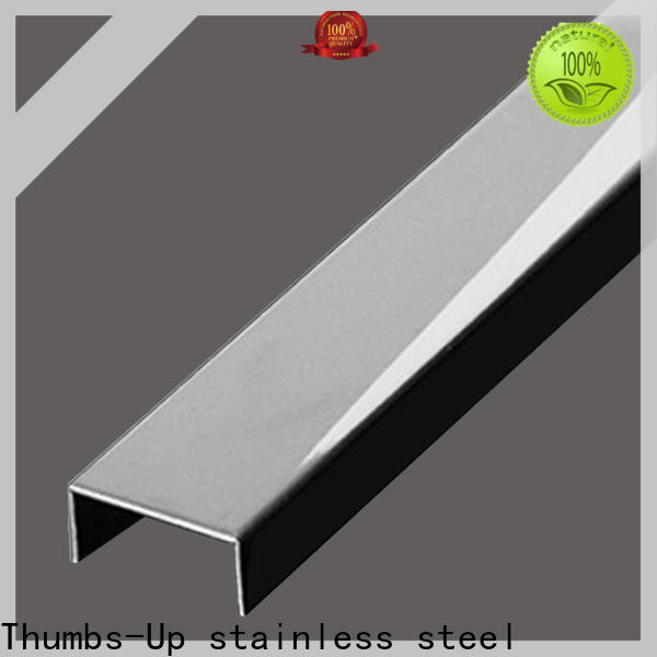 Thumbs-Up arc brass trim molding customized for store