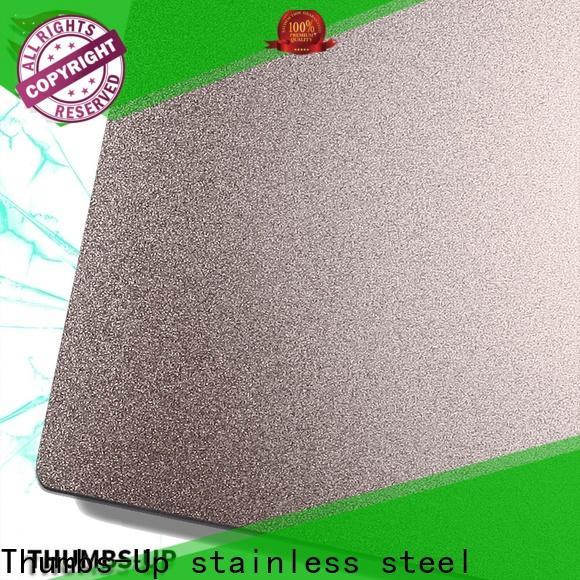 colorful 304l stainless steel plate sandblastingrose supplier for lobby