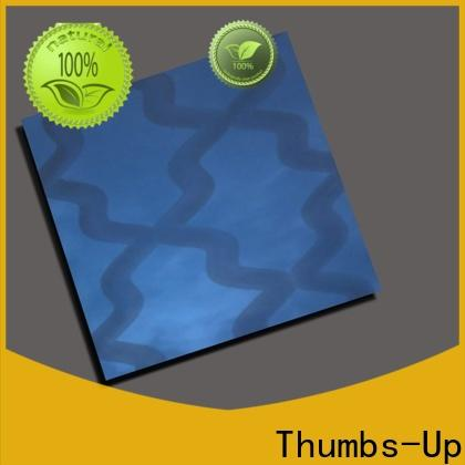 Thumbs-Up bronze mirror finish stainless steel sheet customized for store