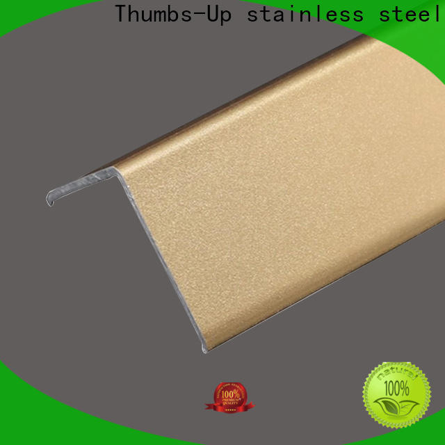 Thumbs-Up gold stainless steel seam strips customized for store