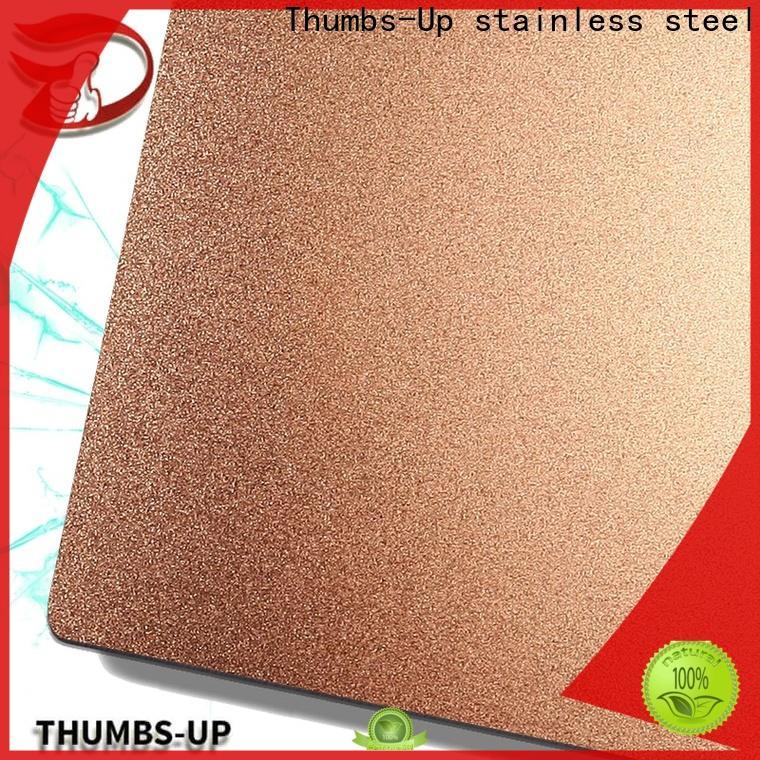 nano thin stainless steel plate sandblasting supplier for ceiling