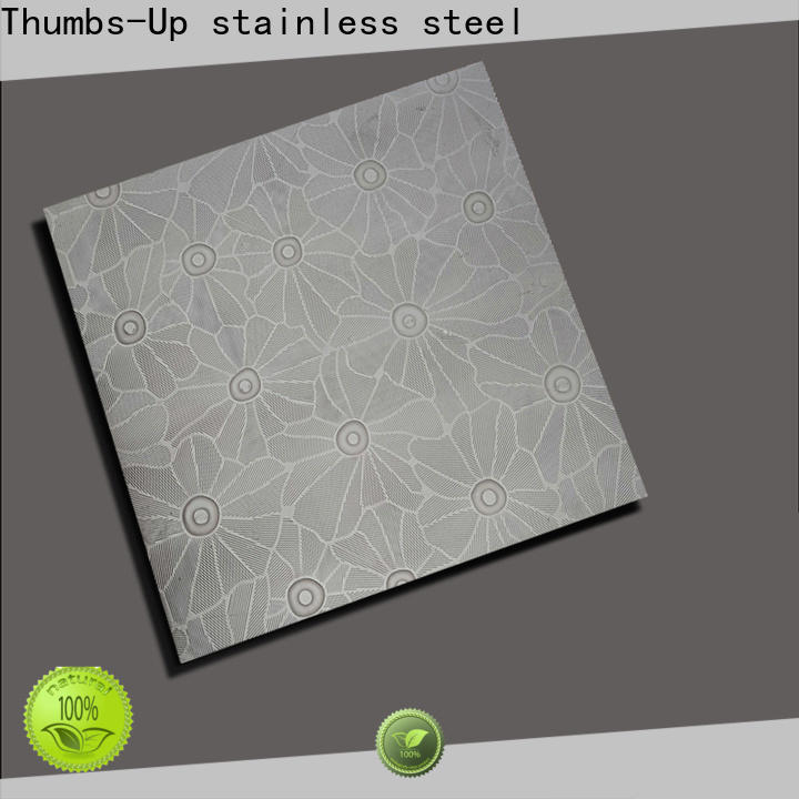Thumbs-Up plated embossed sheet metal panels customized for outdoor