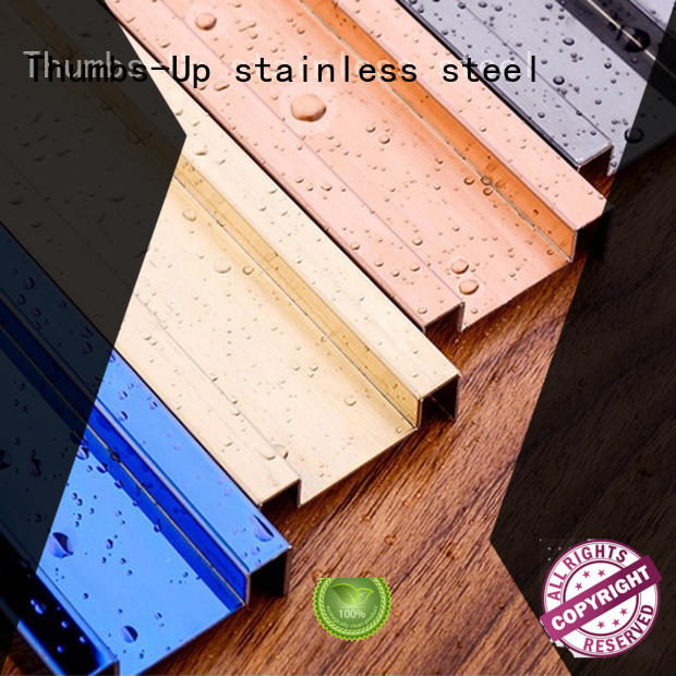 stainless steel transition strip polygon decorative stainless steel strips Thumbs-Up Brand