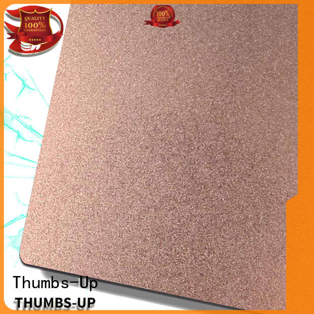 Thumbs-Up nano stainless steel sheet metal prices hairlinedark for lobby